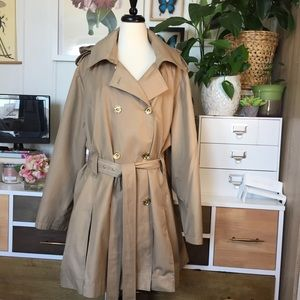 Michael Kors Belted Hooded trench Coat L/XL